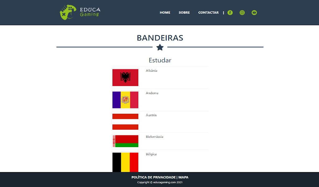 Bandeiras - Jogo Educativo Geografia