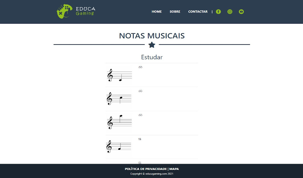 Music Notes Game - Educational